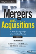 Mergers and Acquisitions. A Step-by-Step Legal and Practical Guide