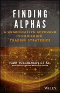 Finding Alphas. A Quantitative Approach to Building Trading Strategies