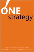 One Strategy. Organization, Planning, and Decision Making