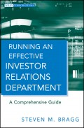 Running an Effective Investor Relations Department. A Comprehensive Guide