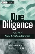 Due Diligence. An M&A Value Creation Approach