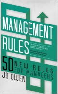 Management Rules. 50 New Rules for Managers