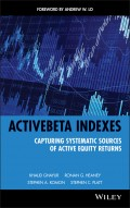 ActiveBeta Indexes. Capturing Systematic Sources of Active Equity Returns