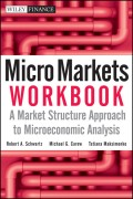 Micro Markets Workbook. A Market Structure Approach to Microeconomic Analysis
