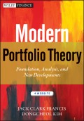 Modern Portfolio Theory. Foundations, Analysis, and New Developments