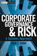 Corporate Governance and Risk. A Systems Approach