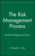 The Risk Management Process. Business Strategy and Tactics