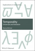 Temporality. Universals and Variation