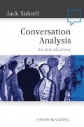 Conversation Analysis. An Introduction