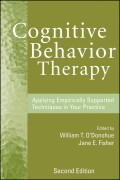 Cognitive Behavior Therapy. Applying Empirically Supported Techniques in Your Practice