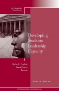 Developing Students' Leadership Capacity. New Directions for Student Services, Number 140