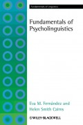 Fundamentals of Psycholinguistics