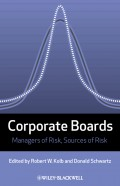 Corporate Boards. Managers of Risk, Sources of Risk