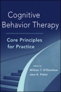 Cognitive Behavior Therapy. Core Principles for Practice