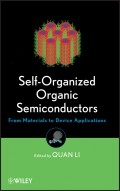 Self-Organized Organic Semiconductors. From Materials to Device Applications