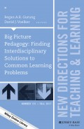 Big Picture Pedagogy: Finding Interdisciplinary Solutions to Common Learning Problems. New Directions for Teaching and Learning, Number 151