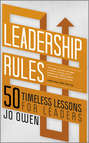 Leadership Rules. 50 Timeless Lessons for Leaders
